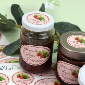 Artikelbild - Etiketten - Marmeladen - Erdbeer -3