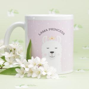 Keramiktasse - Lama Princess
