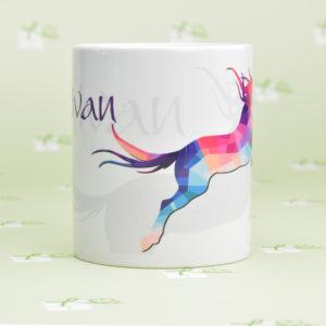 "Keramiktasse - ""Pferdeliebhaber"" - Pferd groß personalisierbar"