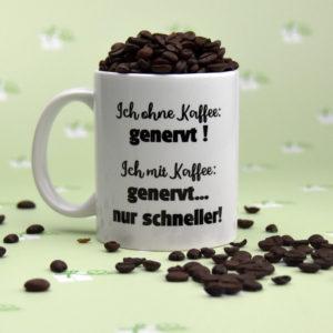 Ich ohne Kaffee