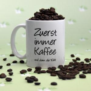 Zuerst immer Kaffee