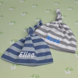 Babymütze-gestreift-mit-Name