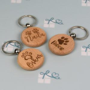Schlüsselanhänger rund - Hund - 3er