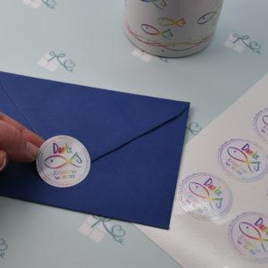 Artikelbild - Aufkleber-Bogen Fische personalisiert Regenbogen - Anwendung3