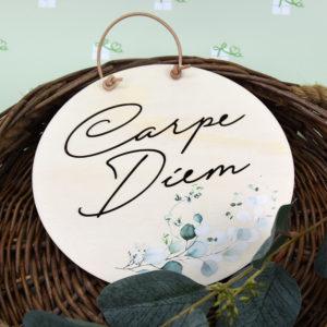 Carpe Diem - Artikelbild - Holzschild ausgestanzt - groß1