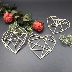 Herz geometrisch - 3er