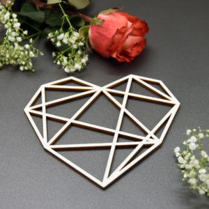 Herz geometrisch - Motiv 1 - 2