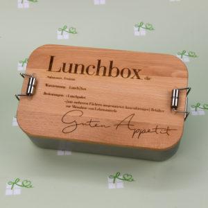 Lunchbox - mit Holzdeckel - Guten Appetit - 5