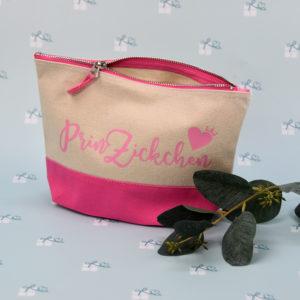 Artikelbild - Kosmetiktasche 2-farbig - pink natur - PrinZickchen
