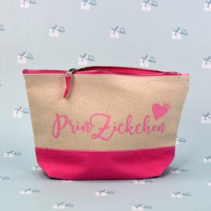 Artikelbild - Kosmetiktasche 2-farbig - pink natur - PrinZickchen1
