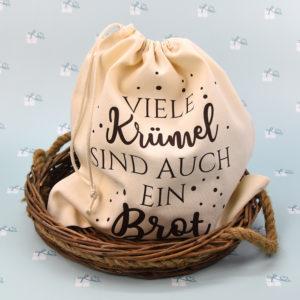 Brotbeutel - Viele Krümel sind auch ein Brot - natur-braun1