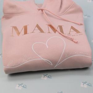 MAMA Hoodie - Rose - Detail1