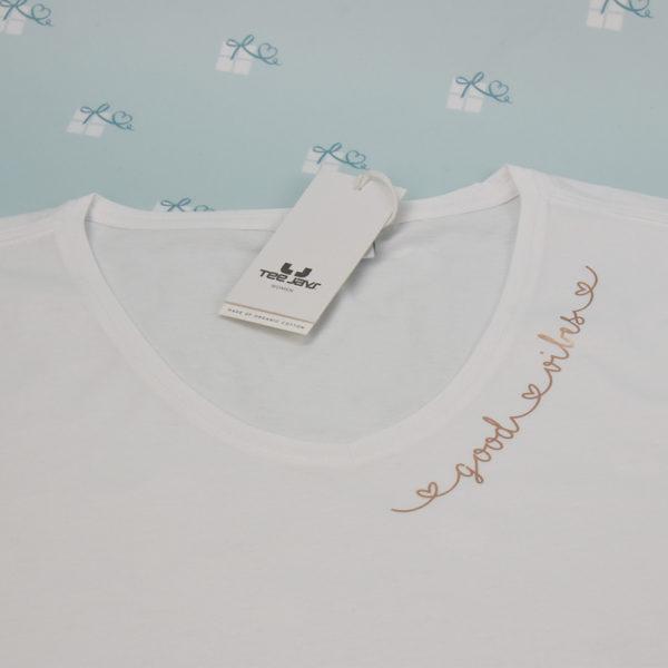good vibes - T-Shirt mit V-Ausschnitt - weiß3