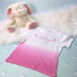 Artikelbild - Baby T-Shirt Verlauf - pink 1