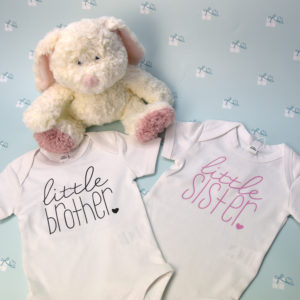 Babybody - weiß - little brother - little sister