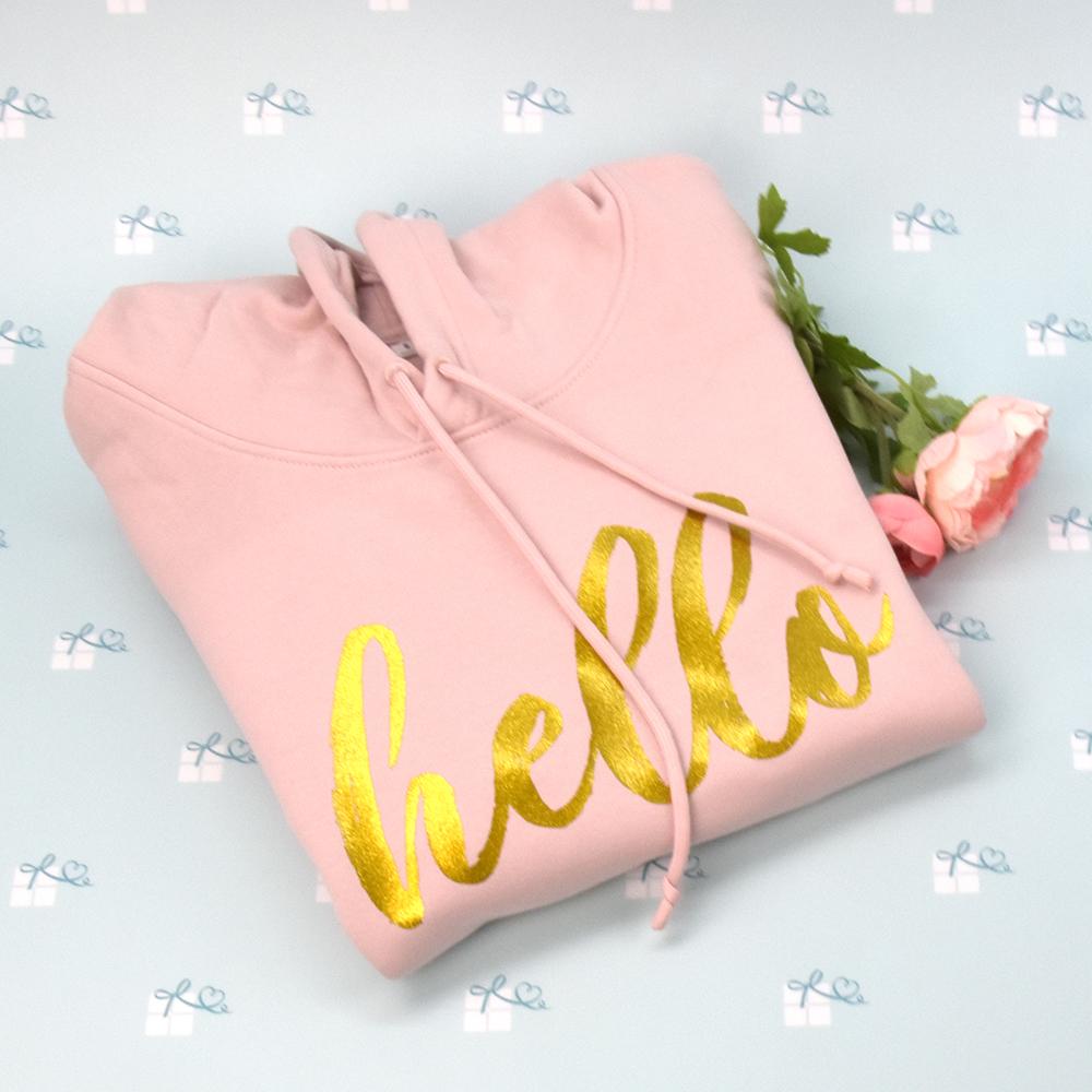 hello - Hoodie - rose