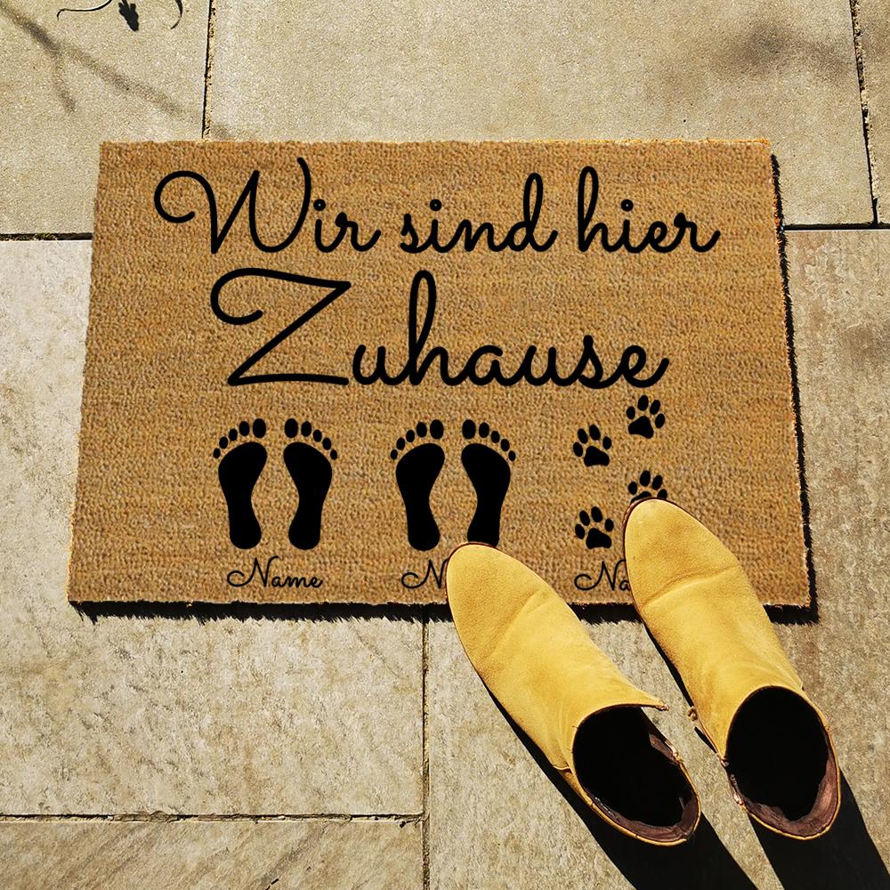Fußmatte - Wir sind hier Zuhause - Artikelbild 2xEKHundName