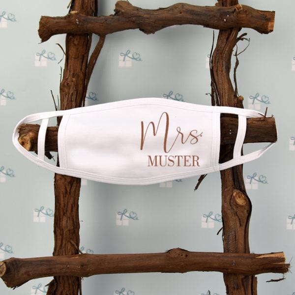 Mund-Nase-Maske - Mr Mrs - Name