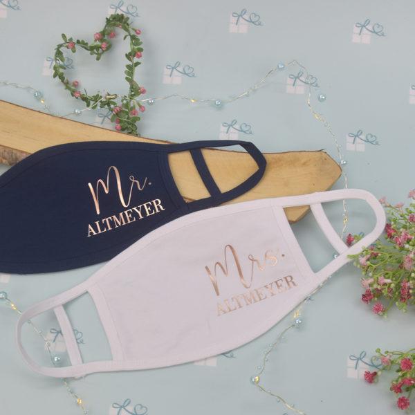 Mund-Nase-Maske - Mr Mrs personalisiert1
