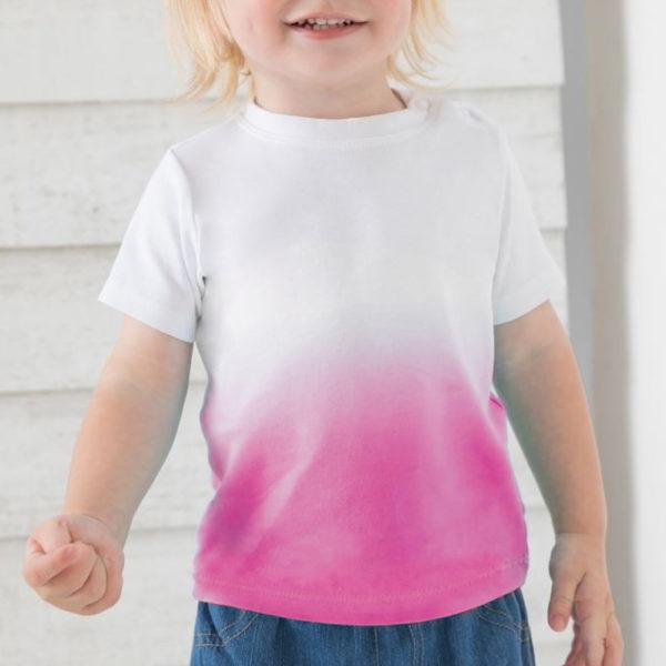 Artikelbild - Baby T-Shirt Verlauf - rosa 1