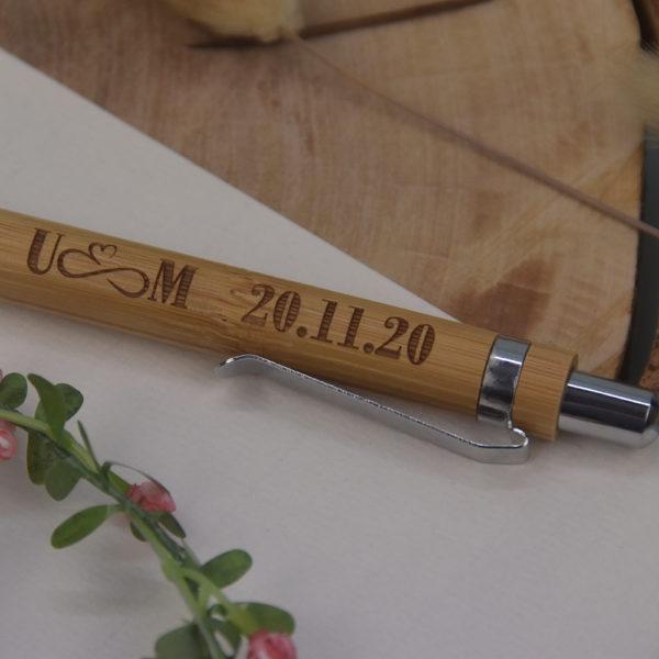 Bambus KS - mit Initialien und Datum - 3