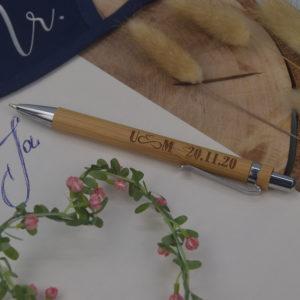 Bambus KS - mit Initialien und Datum - 5