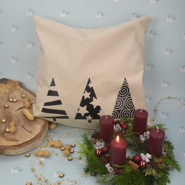 Kissenbezug - Weihnachten - 3 Tannen - 1