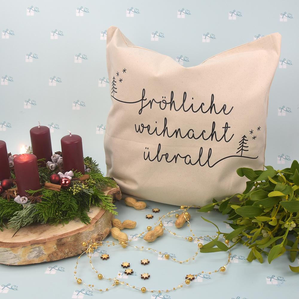 Kissenbezug - Weihnachten - Fröhliche Weihnacht überall - 1
